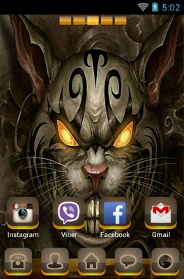 android theme 'Devil Kitten'