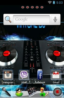 Virtual DJ android theme home screen