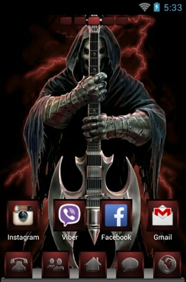Rock God android theme home screen