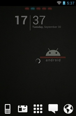 Android Black android theme
