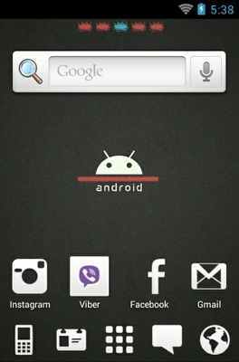 Android Black android theme home screen