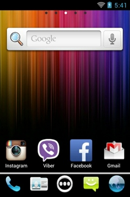 ICS2 android theme home screen