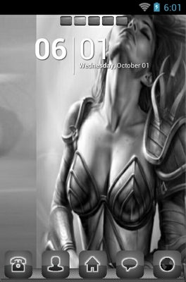 android theme 'Warrior Goddess'
