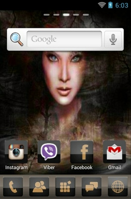 Gypsy android theme home screen