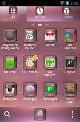 Pink Sensation android theme application menu
