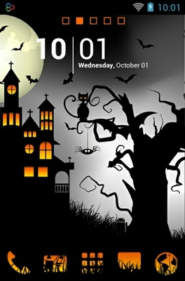 android theme 'Halloween Night'