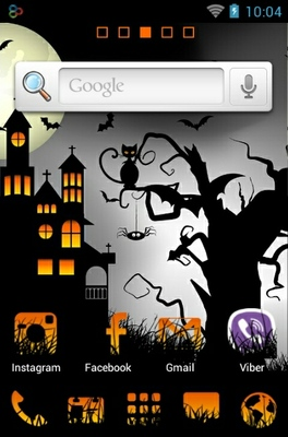 Halloween Night android theme home screen