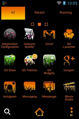 Halloween Night android theme application menu