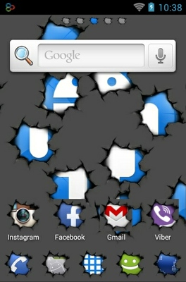 Android Torn android theme home screen