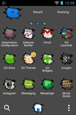 Android Torn android theme application menu