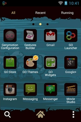 Halloween android theme application menu