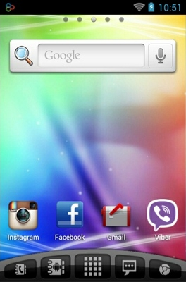 Sensation android theme home screen