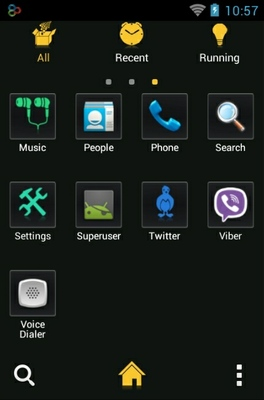 Tron android theme application menu