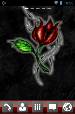 android theme 'Tattoo Rose'