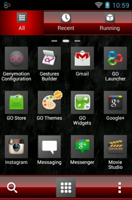 Tattoo Rose android theme application menu
