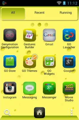 SpongeBob android theme application menu