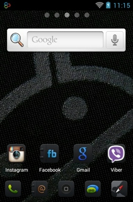 IDroid android theme home screen