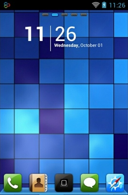 android theme 'Blue Pixels'