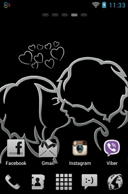 Kiss android theme home screen