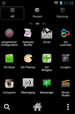 Kiss android theme application menu