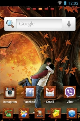 Romance android theme home screen