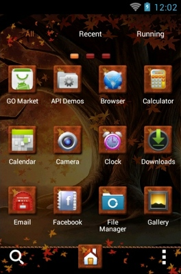 Romance android theme application menu
