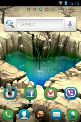 Pond Heart android theme home screen
