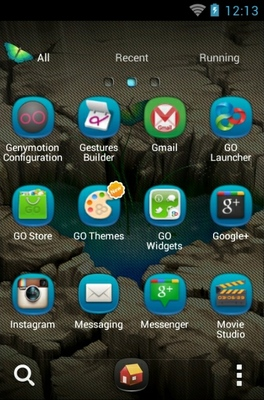 Pond Heart android theme application menu