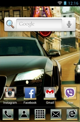 NFS Undercover android theme home screen