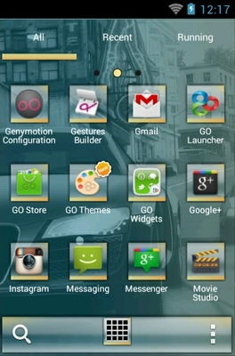 NFS Undercover android theme application menu