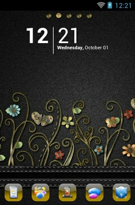 android theme 'Floral Denim'