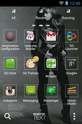 Miley Cyrus android theme application menu