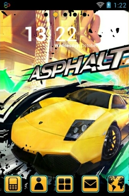 Asphalt 5 android theme