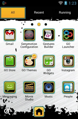 Asphalt 5 android theme application menu