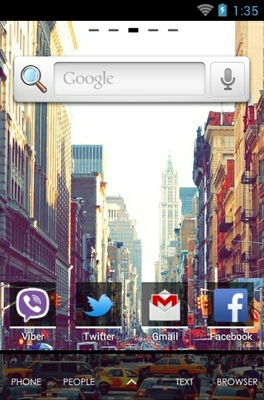 City android theme home screen