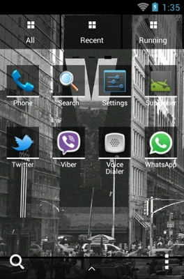 City android theme application menu