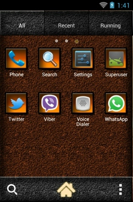 Horses android theme application menu