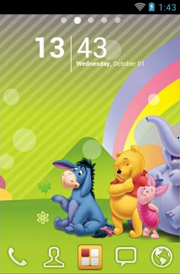 android theme 'Winnie Pooh'