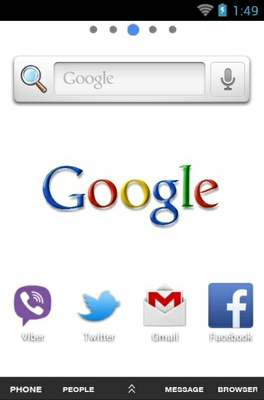 Google android theme home screen