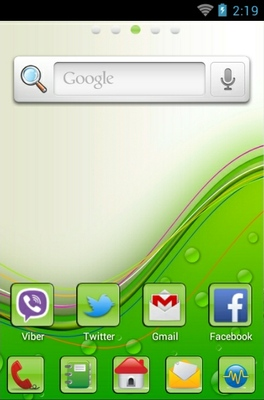 how to use go launcher theme
