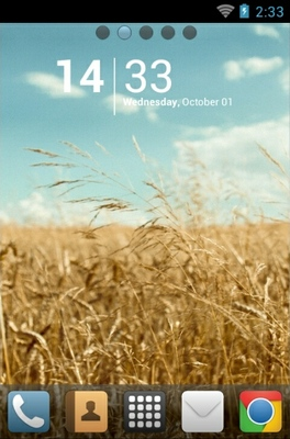 android theme 'Golden Field'