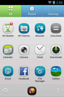 Nokia android theme application menu