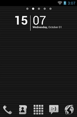 android theme 'Monochromacy Black'
