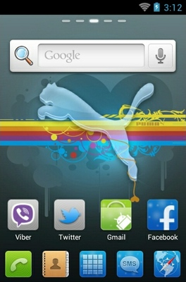 Puma android theme home screen