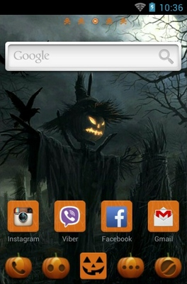 Black Magic Spells android theme home screen