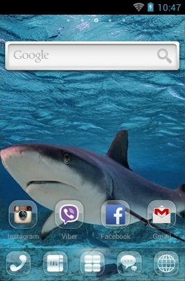 Shark android theme home screen