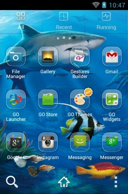 Shark android theme application menu