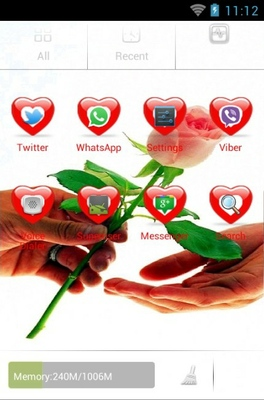 Rose For You  android theme application menu