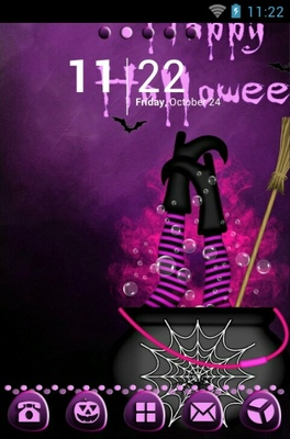 android theme 'Purple Halloween'