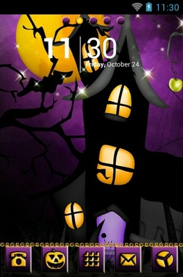 android theme 'Purple Skies Halloween'